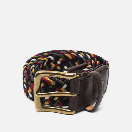 Barbour Tartan Coloured Stretch Men's Belt Classic