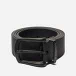 Ремень C.P. Company Rubber Leather Classic Black фото- 0