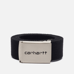 Мужской ремень Carhartt WIP Clip Chrome Black фото- 0