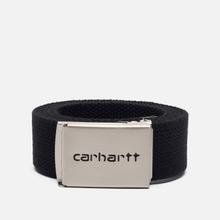 Ремень Carhartt WIP Clip Chrome Black фото- 0