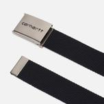 Мужской ремень Carhartt WIP Clip Chrome Black фото- 1