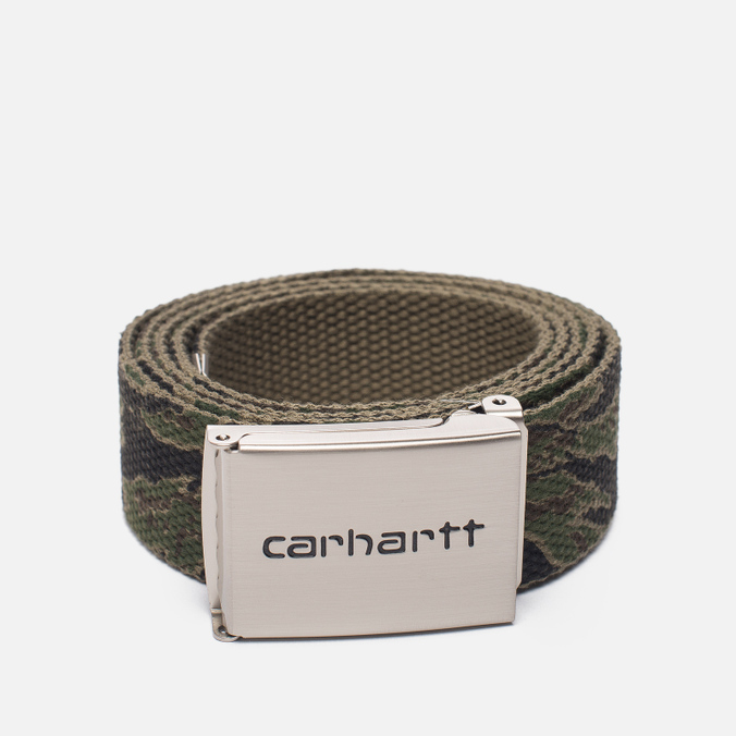 Мужской ремень Carhartt WIP Clip Chrome Camo Tiger Laurel