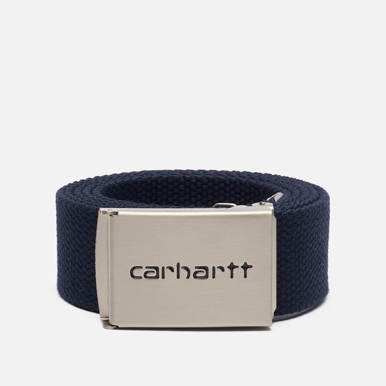 Ремень Carhartt WIP Clip Chrome Dark Navy