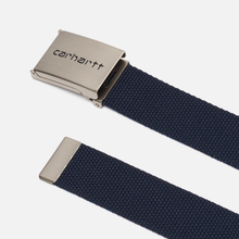 Ремень Carhartt WIP Clip Chrome Dark Navy фото- 1