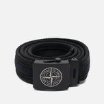 Мужской ремень Stone Island Adjustable Buckle Black фото- 0