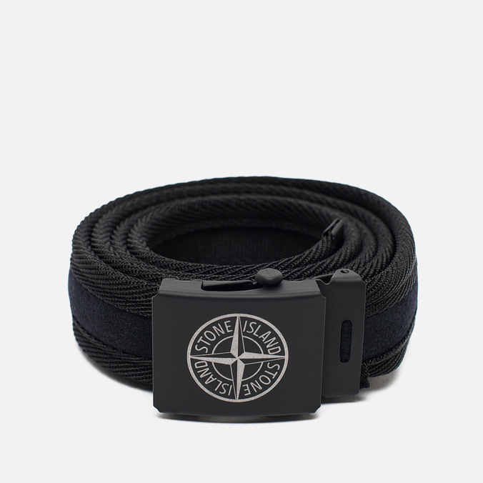 Мужской ремень Stone Island Adjustable Buckle Black