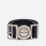 Мужской ремень Stone Island Buckle Compass 6615 Leather Black фото- 0