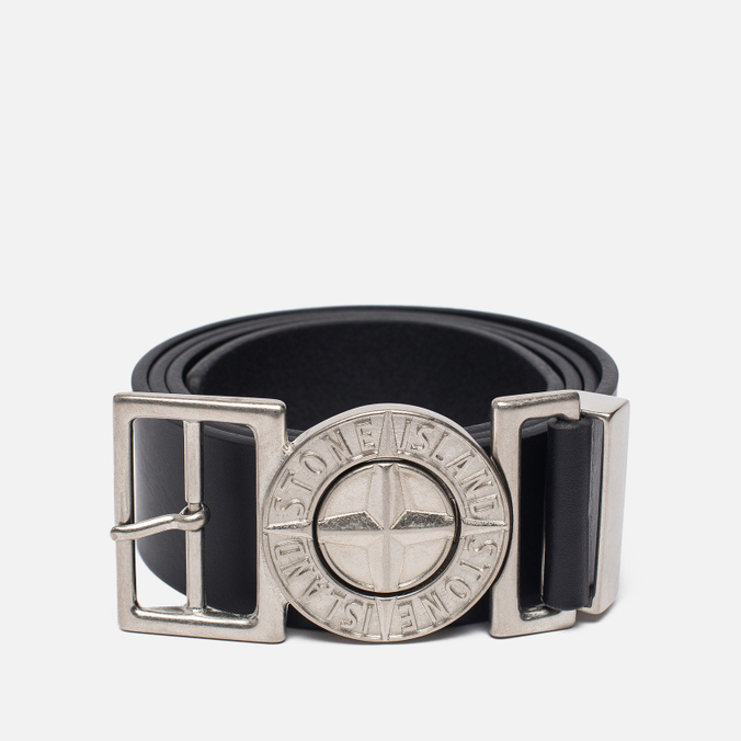 Мужской ремень Stone Island Buckle Compass 6615 Leather Black
