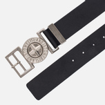 Мужской ремень Stone Island Buckle Compass 6615 Leather Black фото- 1