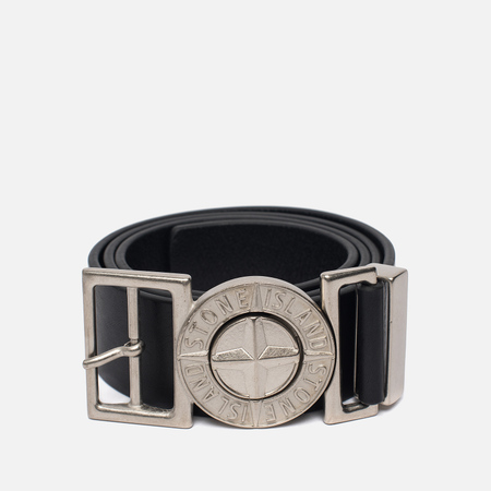 Мужской ремень Stone Island Buckle Compass 6715 Leather Black