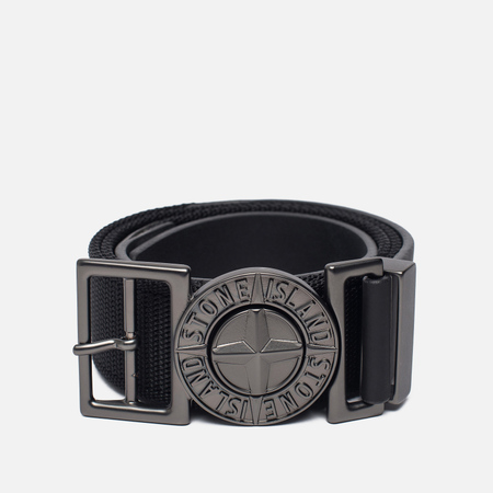 Мужской ремень Stone Island Buckle Compass 6615 Nylon Black