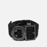 Stone Island Buckle Compass Nylon Men's Belt Black photo- 0