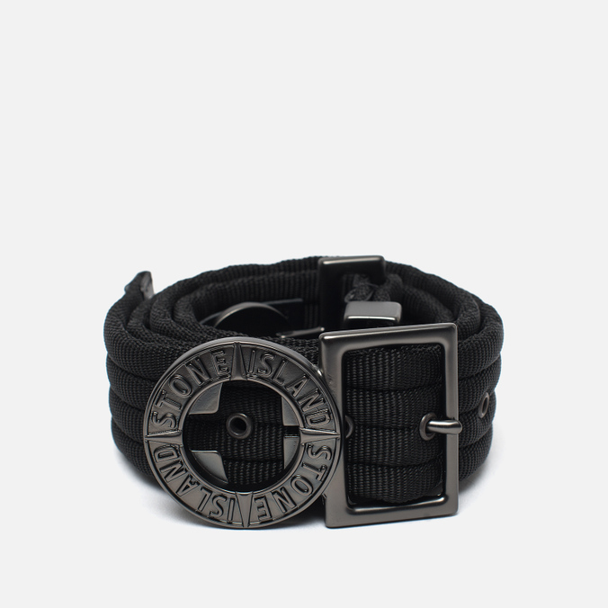 Stone Island Buckle Compass Nylon Men's Belt Black