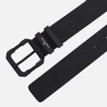 Мужской ремень Stone Island Leather Applique 6615 Black фото- 1