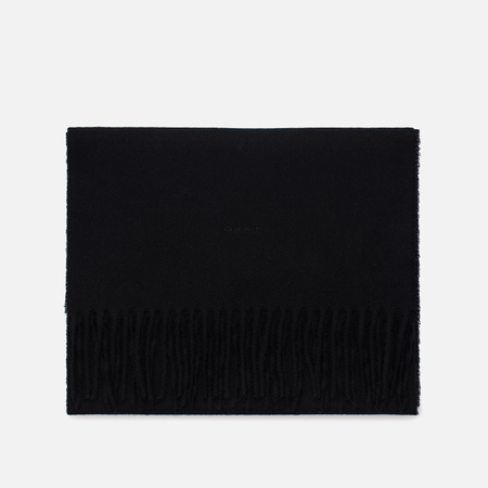Мужской шарф Gant Basic Solid Lambswool Black