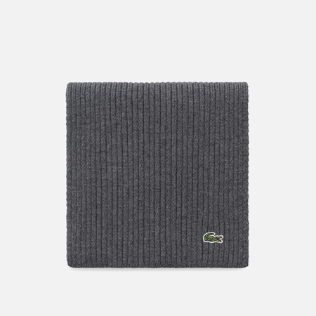 Мужской шарф Lacoste Green Croc Wool Galaxite Chine