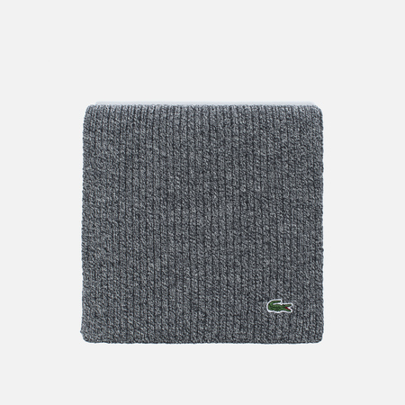 Lacoste Green Croc Wool Men's Scarf Light Grey Jaspe