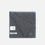 Мужской шарф Lacoste Green Croc Wool Light Grey Jaspe фото- 1