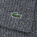 Мужской шарф Lacoste Green Croc Wool Light Grey Jaspe фото- 3