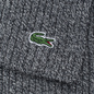 Шарф Lacoste Green Croc Wool Light Grey Jaspe фото - 3