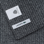 Lacoste Green Croc Wool Men's Scarf Light Grey Jaspe photo- 2