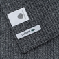 Шарф Lacoste Green Croc Wool Light Grey Jaspe фото - 2