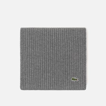 Мужской шарф Lacoste Green Croc Wool Stone Chine
