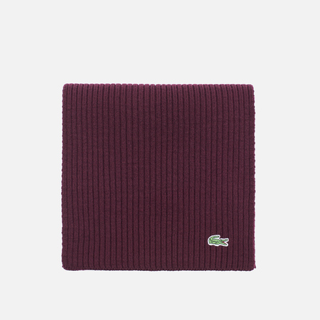 Мужской шарф Lacoste Green Croc Wool Vendange