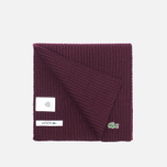 Мужской шарф Lacoste Green Croc Wool Vendange фото- 1