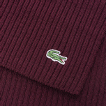 Мужской шарф Lacoste Green Croc Wool Vendange фото- 3