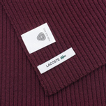 Мужской шарф Lacoste Green Croc Wool Vendange фото- 2