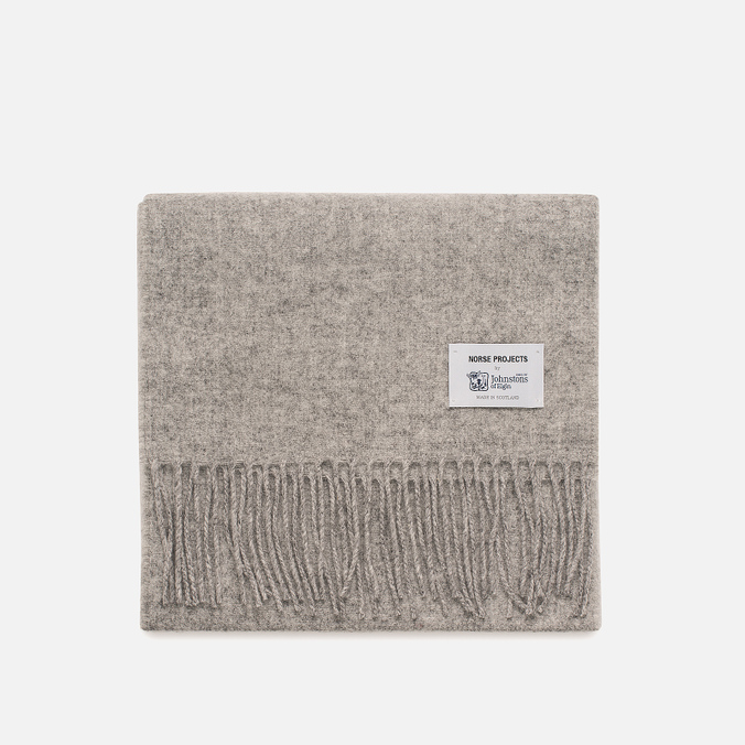 Шарф Norse Projects x Johnstons Lambswool Ash Grey