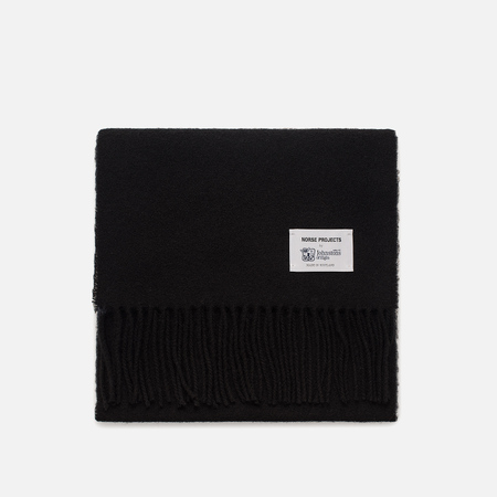 Мужской шарф Norse Projects x Johnstons Lambswool Black