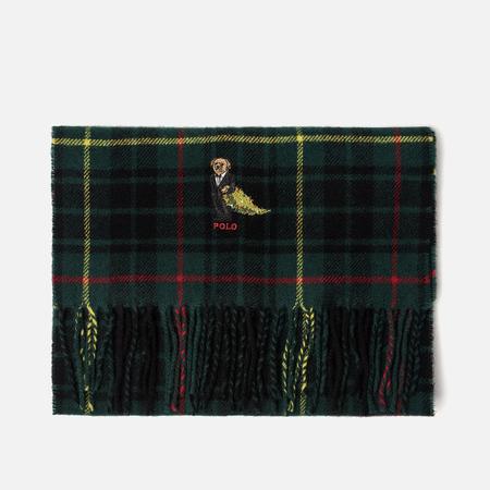 Мужской шарф Polo Ralph Lauren Bear Tartans Viscose Blend College Green Tartan