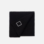 Мужской шарф Stone Island Lambswool Compass Patch Logo Black фото- 1