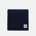 Мужской шарф Stone Island Lambswool Compass Patch Logo Blue фото- 0