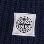 Мужской шарф Stone Island Lambswool Compass Patch Logo Blue фото- 2