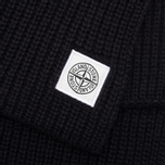 Мужской шарф Stone Island Ribbed Black фото- 2