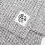 Мужской шарф Stone Island Ribbed Grey фото- 2