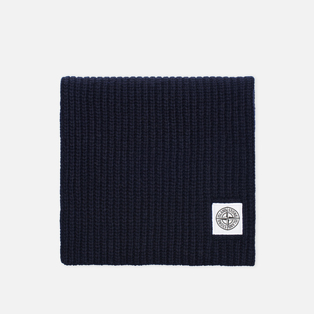 Мужской шарф Stone Island Ribbed Navy