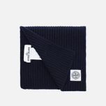 Мужской шарф Stone Island Ribbed Navy фото- 1
