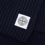 Мужской шарф Stone Island Ribbed Navy фото- 3
