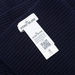 Мужской шарф Stone Island Ribbed Navy фото- 2