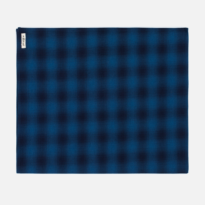 Мужской шарф The Hill-Side Ombre Plaid Flannel Indigo