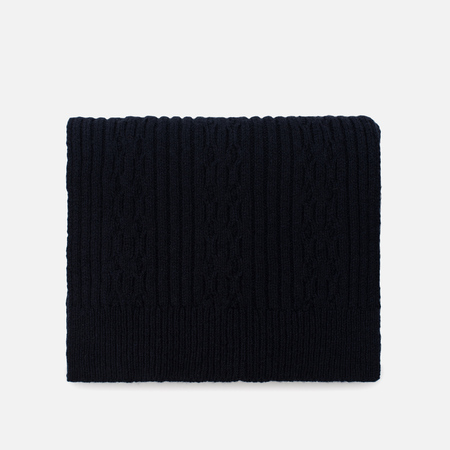 Мужской шарф Universal Works Cable Soft Wool Navy