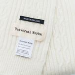 Мужской шарф Universal Works Long Soft Wool Cable Ecru фото- 2