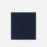 Universal Works Long Soft Wool Cable Men's Scarf Navy photo- 0