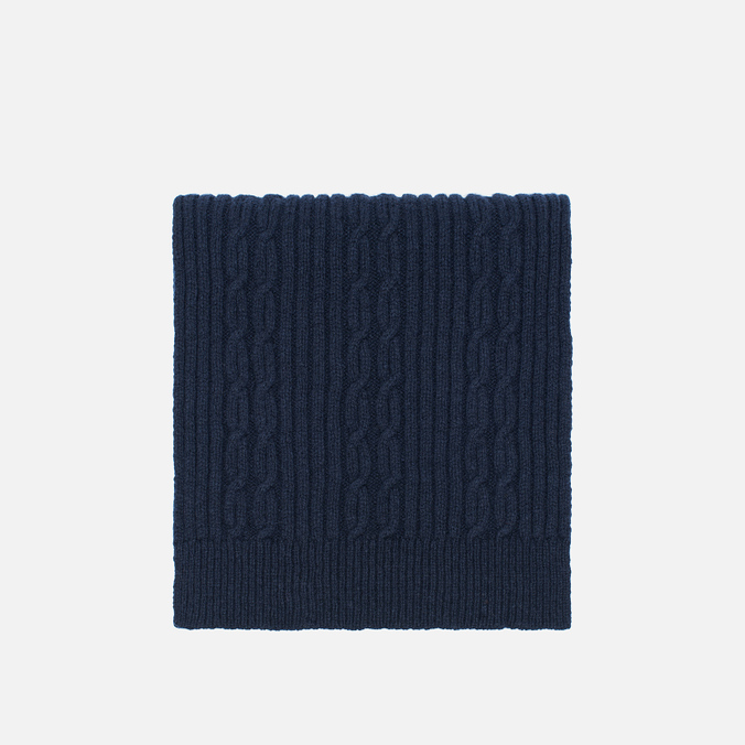 Universal Works Long Soft Wool Cable Men's Scarf Navy