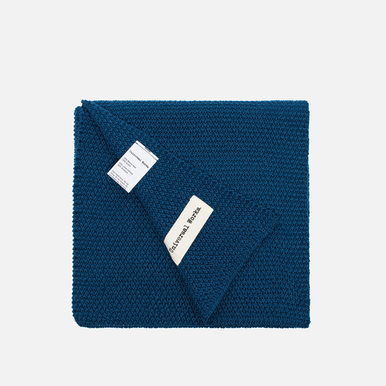 Шарф Universal Works Scarf Moss Stitch Blue