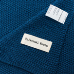 Мужской шарф Universal Works Scarf Moss Stitch Blue фото- 2